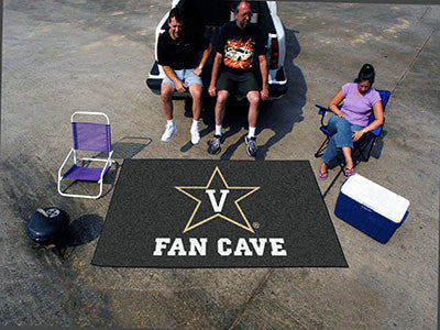 "NCAA Officially licensed Vanderbilt University Fan Cave UltiMat 59.5""x94.5"" Celebrate your fandom with a Fan Cave mat from S"