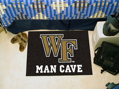 "NCAA Officially licensed Wake Forest University Man Cave Starter 19""x30"" Celebrate your fandom with a Man Cave mat from Spor"