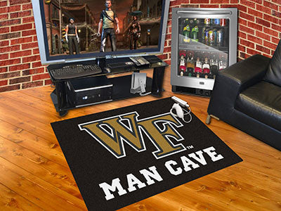 "NCAA Officially licensed Wake Forest University Man Cave All-Star 33.75""x42.5"" Celebrate your fandom with a Man Cave mat fro"