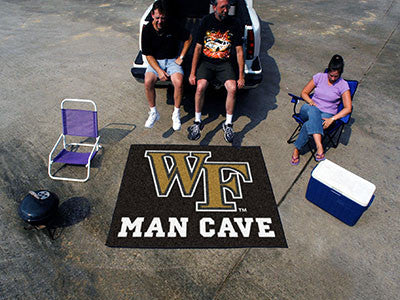 "NCAA Officially licensed Wake Forest University Man Cave Tailgater 59.5""x71"" Celebrate your fandom with a Man Cave mat from"
