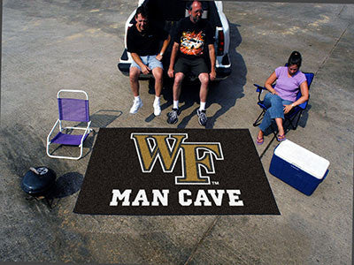 "NCAA Officially licensed Wake Forest University Man Cave UltiMat 59.5""x94.5"" Celebrate your fandom with a Man Cave mat from"