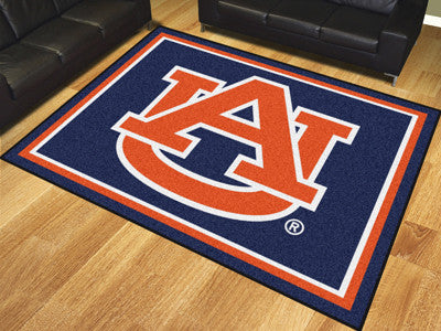 "NCAA Officially licensed Auburn University 8x10 Rug 87""x117"" Show off your team pride in a big way! 8'x10' ultra plush area"