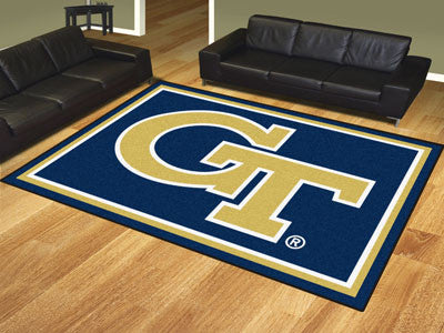 "NCAA Officially licensed Georgia Tech 8x10 Rug 87""x117"" Show off your team pride in a big way! 8'x10' ultra plush area rugs"