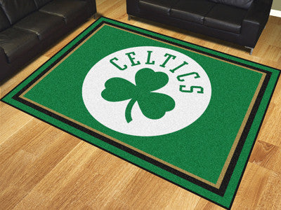 NBA Officially licensed products Boston Celtics 8'x10' Rug Show off your team pride in a big way! 8'x10' ultra plush area ru