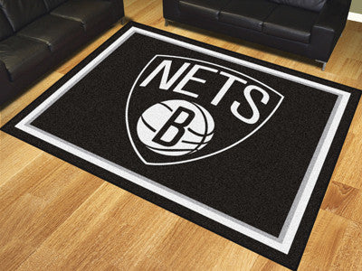 NBA Officially licensed products Brooklyn Nets 8'x10' Rug Show off your team pride in a big way! 8'x10' ultra plush area rug