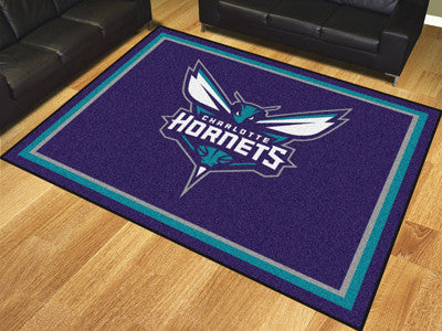 NBA Officially licensed products Charlotte Hornets 8'x10' Rug Show off your team pride in a big way! 8'x10' ultra plush area