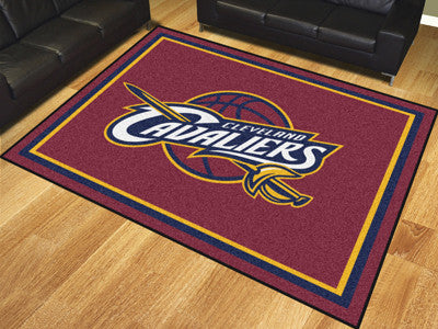 NBA Officially licensed products Cleveland Cavaliers 8'x10' Rug Show off your team pride in a big way! 8'x10' ultra plush ar