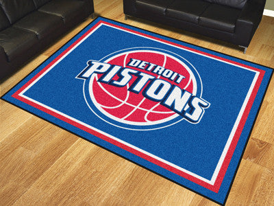 NBA Officially licensed products Detroit Pistons 8'x10' Rug Show off your team pride in a big way! 8'x10' ultra plush area r