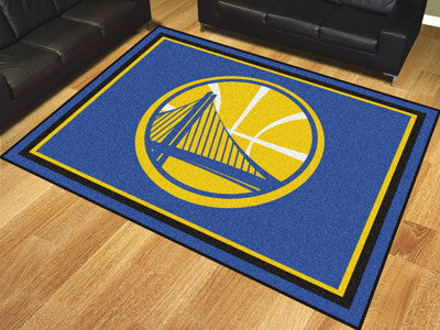 NBA Officially licensed products Golden State Warriors 8'x10' Rug Show off your team pride in a big way! 8'x10' ultra plush
