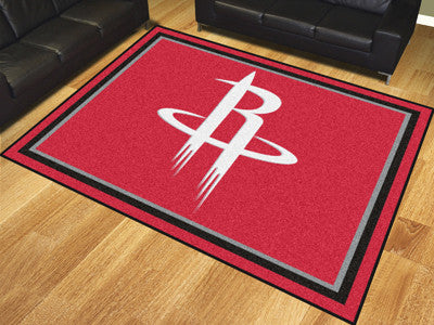 NBA Officially licensed products Houston Rockets 8'x10' Rug Show off your team pride in a big way! 8'x10' ultra plush area r