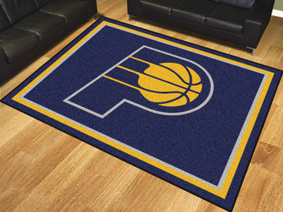 NBA Officially licensed products Indiana Pacers 8'x10' Rug Show off your team pride in a big way! 8'x10' ultra plush area ru