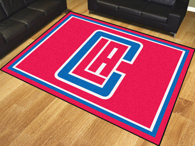 NBA Officially licensed products Los Angeles Clippers 8'x10' Rug Show off your team pride in a big way! 8'x10' ultra plush a