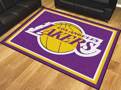 NBA Officially licensed products Los Angeles Lakers 8'x10' Rug Show off your team pride in a big way! 8'x10' ultra plush are