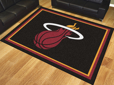 NBA Officially licensed products Miami Heat 8'x10' Rug Show off your team pride in a big way! 8'x10' ultra plush area rugs w