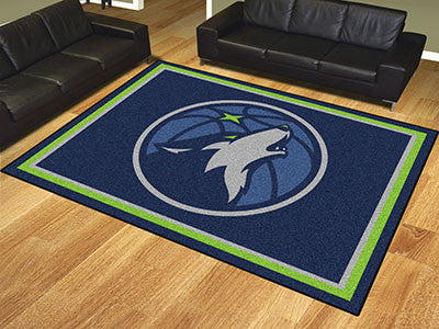 NBA Officially licensed products Minnesota Timberwolves 8'x10' Rug Show off your team pride in a big way! 8'x10' ultra plush