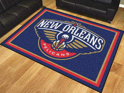 NBA Officially licensed products New Orleans Pelicans 8'x10' Rug Show off your team pride in a big way! 8'x10' ultra plush a