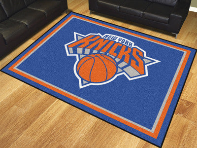 NBA Officially licensed products New York Knicks 8'x10' Rug Show off your team pride in a big way! 8'x10' ultra plush area r