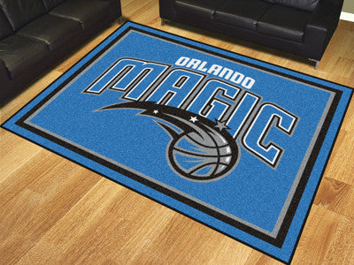 NBA Officially licensed products Orlando Magic 8'x10' Rug Show off your team pride in a big way! 8'x10' ultra plush area rug
