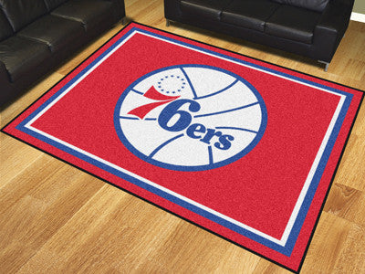 NBA Officially licensed products Philadelphia 76ers 8'x10' Rug Show off your team pride in a big way! 8'x10' ultra plush are