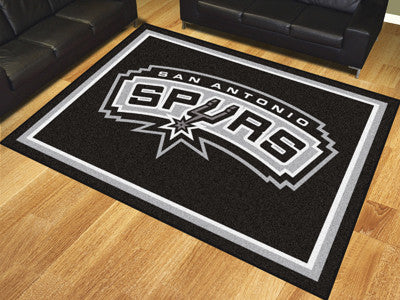 NBA Officially licensed products San Antonio Spurs 8'x10' Rug Show off your team pride in a big way! 8'x10' ultra plush area