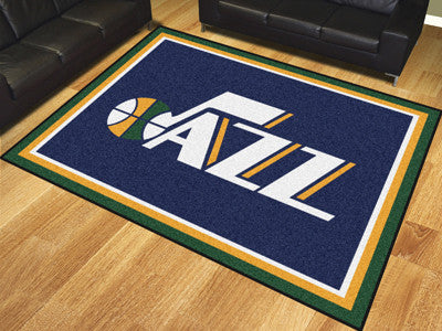 NBA Officially licensed products Utah Jazz 8'x10' Rug Show off your team pride in a big way! 8'x10' ultra plush area rugs wo