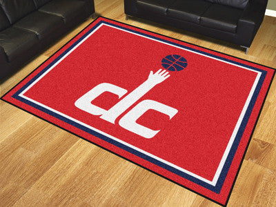 NBA Officially licensed products Washington Wizards 8'x10' Rug Show off your team pride in a big way! 8'x10' ultra plush are