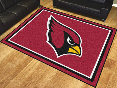NFL Officially licensed products Arizona Cardinals 8'x10' Rug Show off your team pride in a big way! 8'x10' ultra plush area