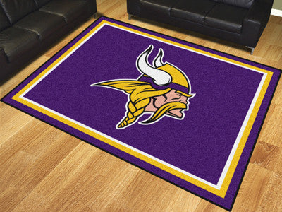NFL Officially licensed products Minnesota Vikings 8'x10' Rug Show off your team pride in a big way! 8'x10' ultra plush area