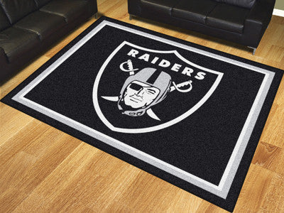 NFL Officially licensed products Oakland Raiders 8'x10' Rug Show off your team pride in a big way! 8'x10' ultra plush area r