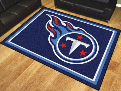 NFL Officially licensed products Tennessee Titans 8'x10' Rug Show off your team pride in a big way! 8'x10' ultra plush area