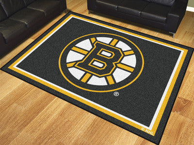 NHL Officially licensed products Boston Bruins 8'x10' Rug Show off your team pride in a big way! 8'x10' ultra plush area rug