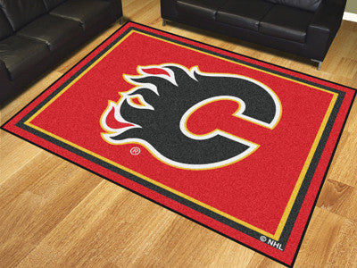 NHL Officially licensed products Calgary Flames 8'x10' Rug Show off your team pride in a big way! 8'x10' ultra plush area ru