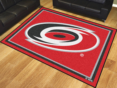 NHL Officially licensed products Carolina Hurricanes 8'x10' Rug Show off your team pride in a big way! 8'x10' ultra plush ar