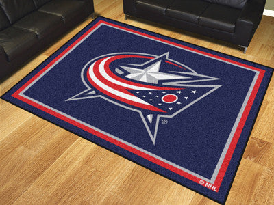 NHL Officially licensed products Columbus Blue Jackets 8'x10' Rug Show off your team pride in a big way! 8'x10' ultra plush