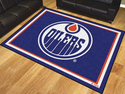 NHL Officially licensed products Edmonton Oilers 8'x10' Rug Show off your team pride in a big way! 8'x10' ultra plush area r