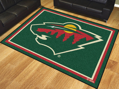 NHL Officially licensed products Minnesota Wild 8'x10' Rug Show off your team pride in a big way! 8'x10' ultra plush area ru