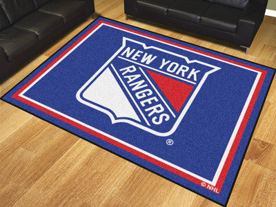 NHL Officially licensed products New York Rangers 8'x10' Rug Show off your team pride in a big way! 8'x10' ultra plush area