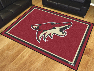 NHL Officially licensed products Arizona Coyotes 8'x10' Rug Show off your team pride in a big way! 8'x10' ultra plush area r