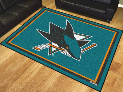 NHL Officially licensed products San Jose Sharks 8'x10' Rug Show off your team pride in a big way! 8'x10' ultra plush area r