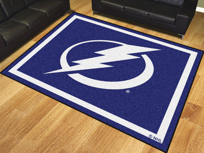 NHL Officially licensed products Tampa Bay Lightning 8'x10' Rug Show off your team pride in a big way! 8'x10' ultra plush ar
