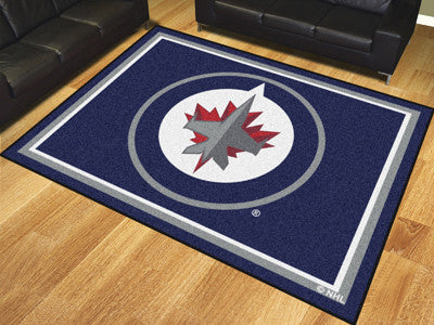 NHL Officially licensed products Winnipeg Jets 8'x10' Rug Show off your team pride in a big way! 8'x10' ultra plush area rug