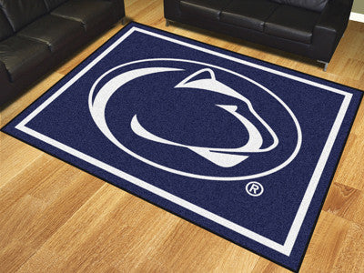 "NCAA Officially licensed Penn State 8x10 Rug 87""x117"" Show off your team pride in a big way! 8'x10' ultra plush area rugs wo"