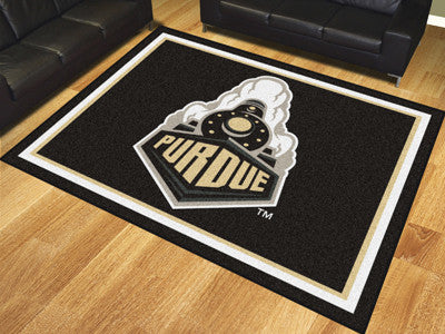 "NCAA Officially licensed Purdue University 8x10 Rug 87""x117"" Show off your team pride in a big way! 8'x10' ultra plush area"