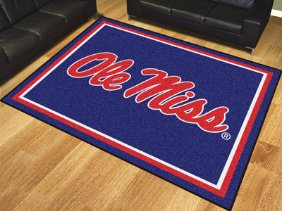 "NCAA Officially licensed University of Mississippi (Ole Miss) 8x10 Rug 87""x117"" Show off your team pride in a big way! 8'x10"