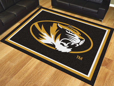 "NCAA Officially licensed University of Missouri 8x10 Rug 87""x117"" Show off your team pride in a big way! 8'x10' ultra plush"