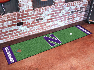 "NCAA Officially licensed Northwestern University Putting Green Mat 18""x72"" Become a pro and perfect your short game with Gol"