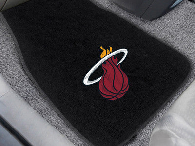 "NBA Officially licensed products Miami Heat 2-pc Embroidered Car Mats 18""x27"" Protect the interior of your vehicle while sho"