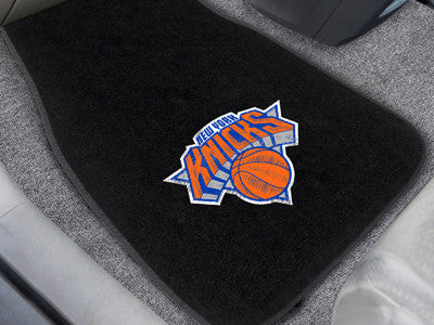 "NBA Officially licensed products New York Knicks 2-pc Embroidered Car Mats 18""x27"" Protect the interior of your vehicle whil"