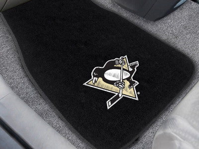 "NHL Officially licensed products Pittsburgh Penguins 2-pc Embroidered Car Mats 18""x27"" Protect the interior of your vehicle"