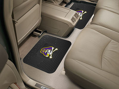 "NCAA Officially licensed East Carolina University 2 Utility Mats 14""x17"" Boast your team colors with backseat Utility Mats b"
